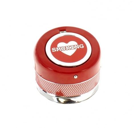 Cendrier Automatique Smoking Coeur rouge
