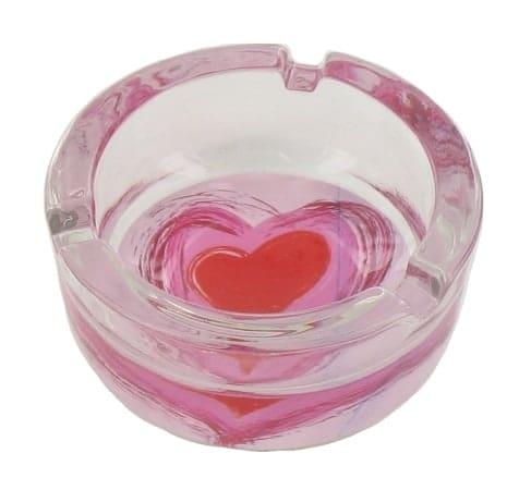 Cendrier Coeur Transparent