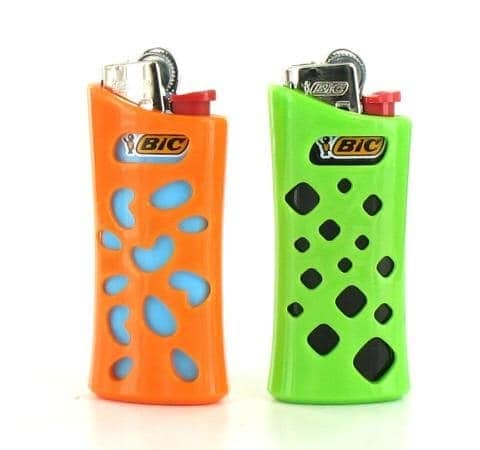 Etui briquet mini Bic'in Orange et Vert