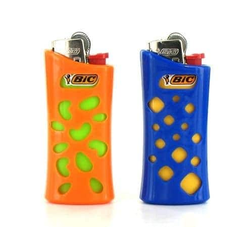 Etui briquet mini Bic'in Orange et Bleu