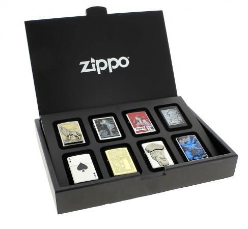 Coffret Zippo en bois 8 pièces