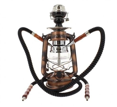 Chicha Coney Lampe à pétrole LED Bronze