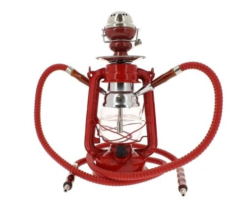 Chicha Coney Lampe à pétrole LED Rouge