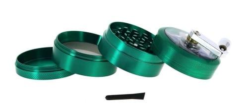 Grinder Manivelle 4 parties Vert