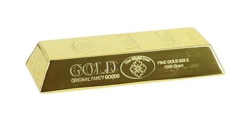 Cendrier de poche lingot d'Or