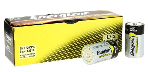 Pile LR20 energizer industriel x12