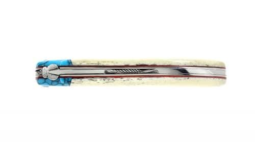 Couteau Laguiole Os Turquoise