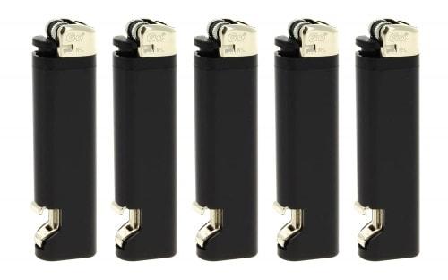 5 Briquets décapsuleurs Noir