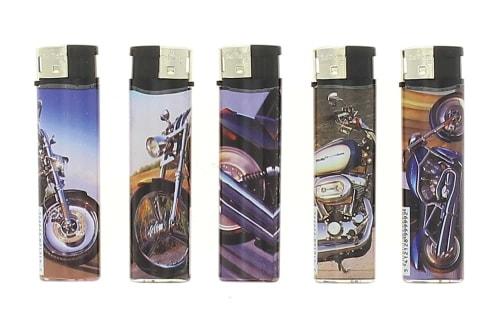 5 Briquets Electroniques Bikers