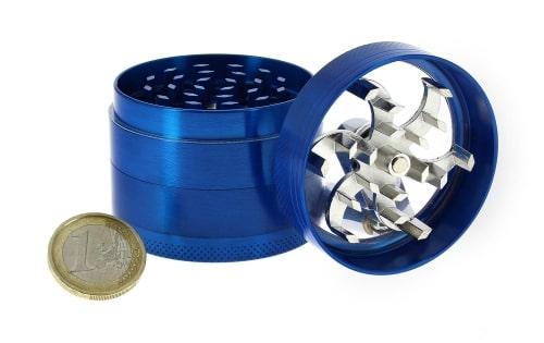 Grinder Manivelle 4 parties Bleu