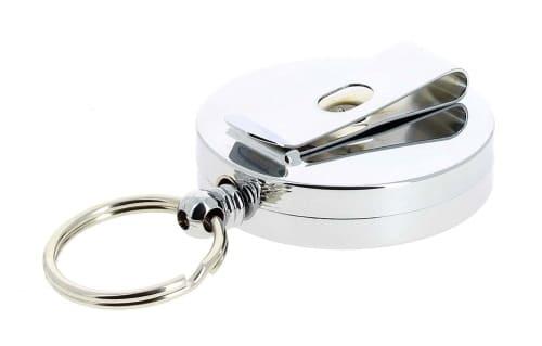 Porte clé enrouleur Chromé