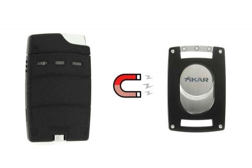 Briquet et coupe cigare aimantés Xikar Ultra Combo Noir