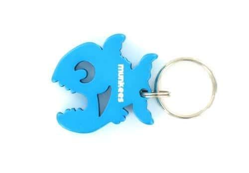 Porte Clés Piranha Bleu