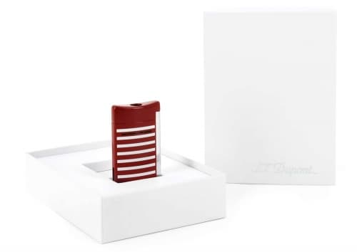 Briquet S.T. Dupont Mini Jet Marinière rouge et blanc