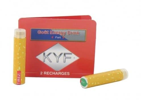 2 Recharges Goût Energy Drink nicotine fort Cigarette KYF