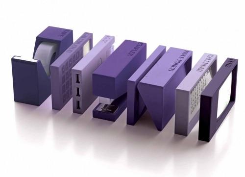 Set de bureau Lexon 7 pièces Violet