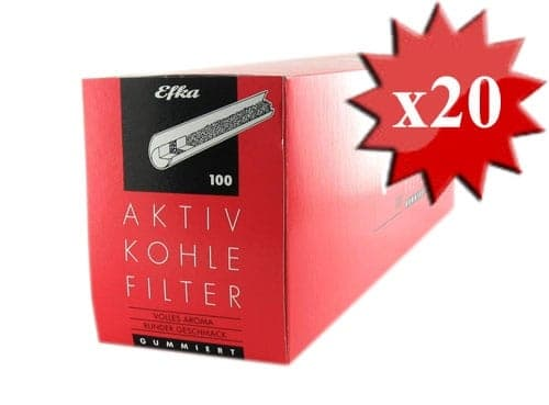 Filtres Efka 8mm Charbon x 20 boites