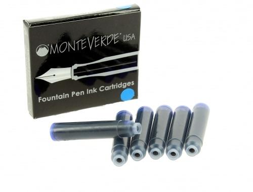 Recharge stylo plume Monteverde Bleu