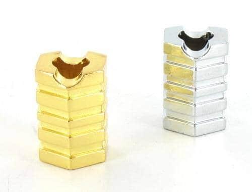 Ensemble 2 étouffoirs à cigarettes Hexagone Chromé et Doré