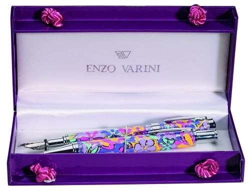 Parure stylo Enzo Varini Fleurie Violette
