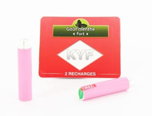 2 Recharges roses Goût Menthe nicotine fort Cigarette KYF