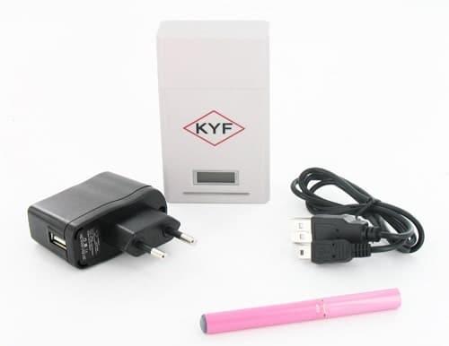 Cigarette électronique rose KYF Kit Box Blanche