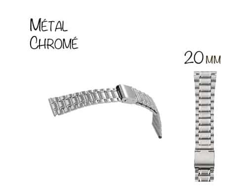 Bracelet Montre Métal 20mm