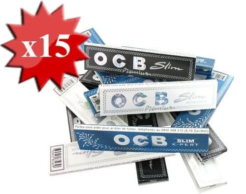 Papier à rouler le pack OCB Slim x 15