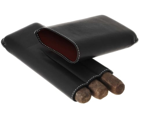 Etui cigare Récife 3 cigares Chesterfield Noir