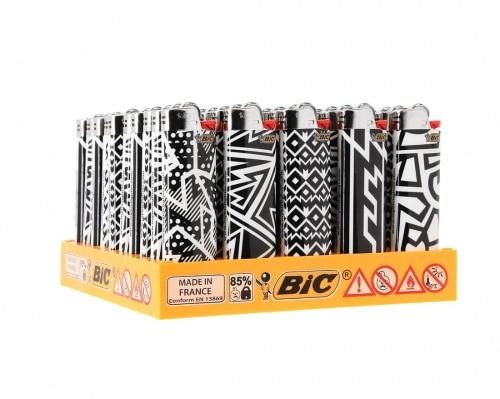 50 briquets Bic maxi à pierre Black and White