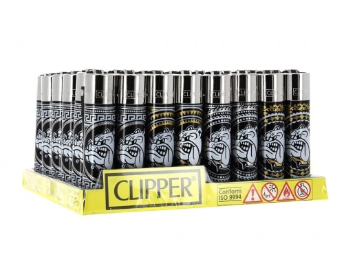 Briquet Clipper The Bulldog Black x48