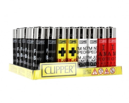 Briquet Clipper Hot Message x48