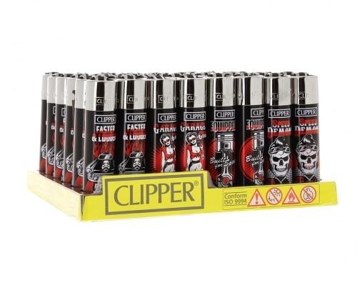 Briquet Clipper Motor Garage x48