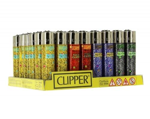 48 briquets Clipper Print