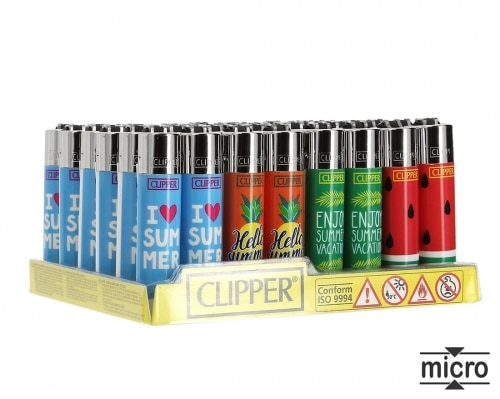 Briquet Clipper Micro Summer x 48