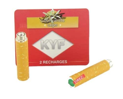2 Recharges Goût Vanille nicotine léger Cigarette KYF