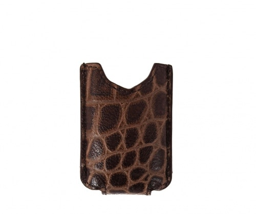 Etui briquet Récife en cuir façon croco pour MiniJet