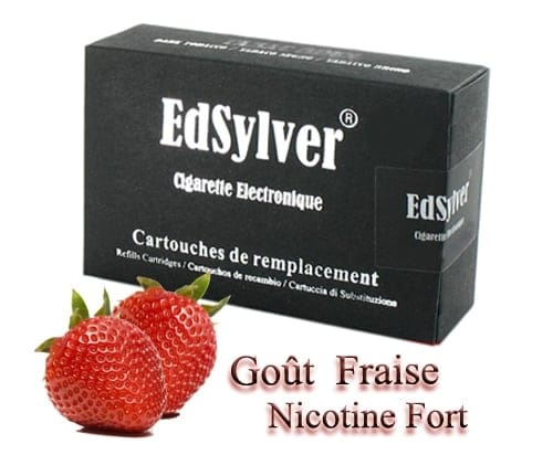 5 Recharges Goût Fraise nicotine fort Cigarette Edsylver