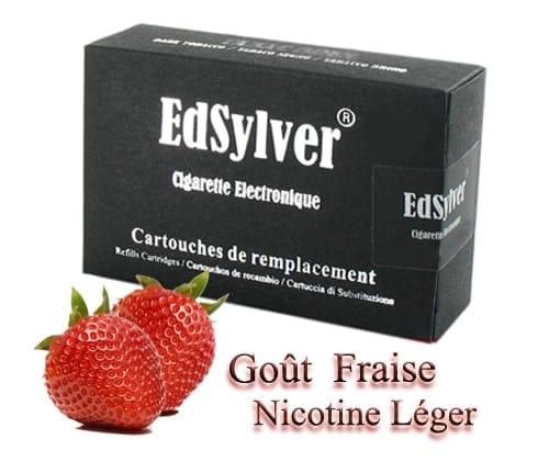 5 Recharges Goût Fraise nicotine léger Cigarette Edsylver
