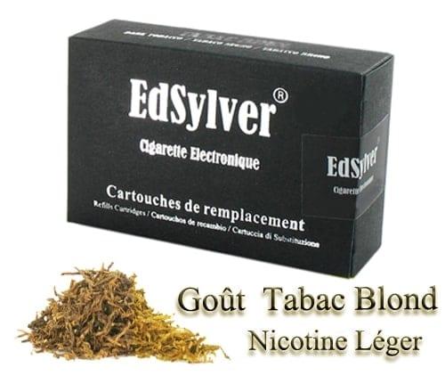 5 Recharges Goût Tabac Blond nicotine léger Cigarette Edsylver