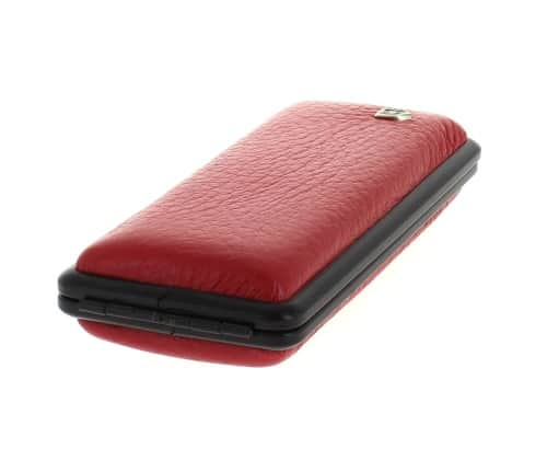 Etui Cigarette Slim Cuir Rouge