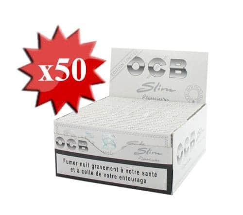 Papier à rouler OCB Slim Premium Blanc x 50