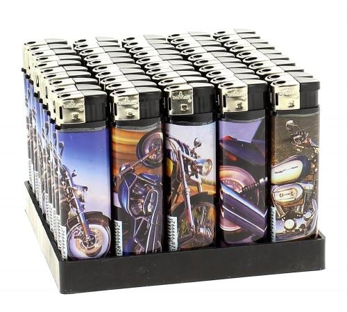 50 Briquets Electroniques Bikers