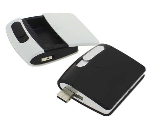 Briquet Sans Flamme USB Noir Cendrier
